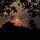 PAGODA SUNSET SILHOUETTE! by NICK COBURN PHILLIPS