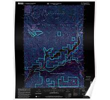 USGS Topo Map Oregon Blue River 279075 1997 24000 Inverted Poster