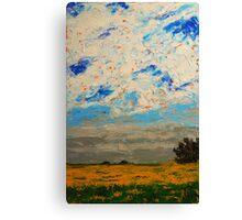 August Prairie and Sky Canvas Print