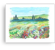 ITALIAN DOLOMITES - WATERCOLOR DRAWING Canvas Print