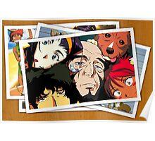 cowboy bebop spike faye jet ed pictures anime manga shirt Poster