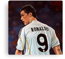 Cristiano Ronaldo painting Canvas Print
