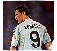 Cristiano Ronaldo painting Poster