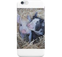 Two Little Pigs 2  iPhone Case/Skin