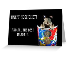 Hogmoney Greeting Card