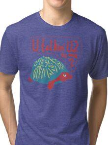 Blue Turtlin' - U Talkin' U2 to Me? Tri-blend T-Shirt