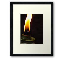 Tiki Fire Framed Print