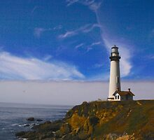Lighthouse at Pigeon Point by Barbara  Brown
