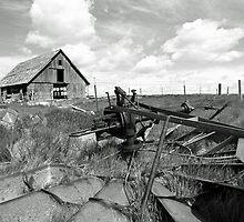 Abandoned Barn and Windmill by Zach Pickard
