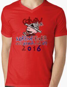 Calvin for Supreme Leader 2016 Mens V-Neck T-Shirt