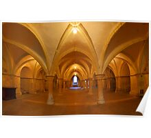 Rochester Cathedral Crypt HDR Colour Poster