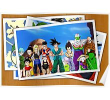 dragon ball z goku vegeta pictures anime manga shirt Poster