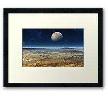 An insight into.....Waterless Worlds Framed Print