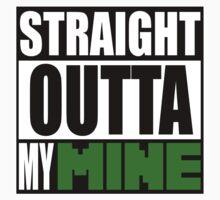 Minecraft - Straight Outta My Mine One Piece - Short Sleeve