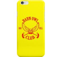 Barn Owl Barbell Club Red iPhone Case/Skin