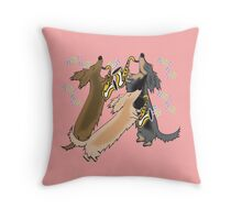 Long Haired Jazz Hound  Throw Pillow