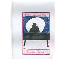 Valentine's Day Moon Light Poster