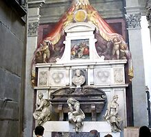 Michelangelo's Tomb in Santa Croce-Florence by Darrell-photos