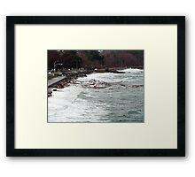 Ross Bay Storm Framed Print