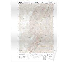 USGS Topo Map Oregon Squirrel Prairie 20110809 TM Poster