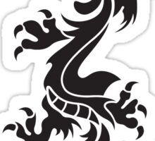 Oriental totemic dragon Sticker
