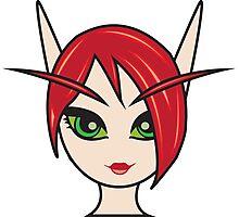 Blood Elf Female 1 Custom Character Photographic Print