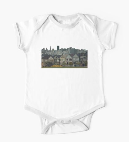 Hand Drawn San Francisco Painted Ladies One Piece - Short Sleeve
