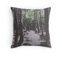 Forest Photo Graphic Throw Pillow