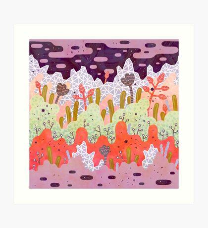 Crystal Forest Art Print