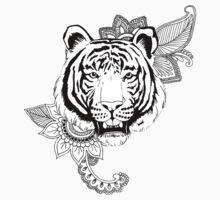 Tiger Design One Piece - Short Sleeve