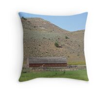 Barn on Hwy 26 -  Unity, Oregon Throw Pillow