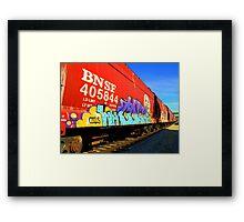 Railroad Graffiti Framed Print
