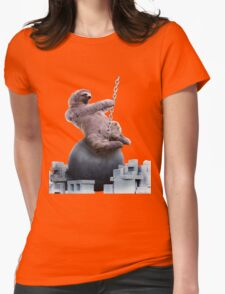 Wrecking Ball Sloth Womens Fitted T-Shirt