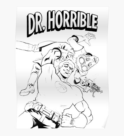Dr. Horrible's Sing-Along Redbubble Poster