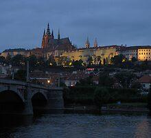 Prague Castle at Twilight by Ian Ker