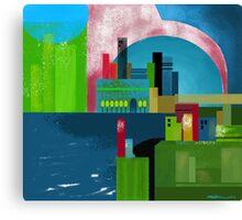 """City Across the Bay""  Canvas Print"