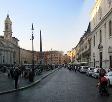 Piazza Navona - pano by Darrell-photos