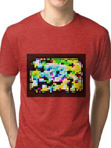 Techno Rainbow Tri-blend T-Shirt