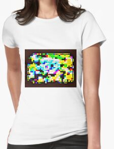 Techno Rainbow Womens Fitted T-Shirt