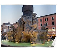 Piazza Navona -Fountain Poster