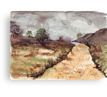 I Love A Lonely Winding Road Canvas Print