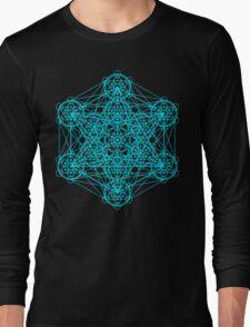 Infinity Cube Light Blue Long Sleeve T-Shirt