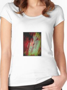 What Do You See When You Smoke That Stuff, Man? Women's Fitted Scoop T-Shirt