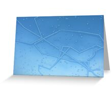 Ice patterns Greeting Card