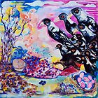 Magpie Blessing - for an old man at rest by Margaret Banson