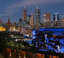 Melbourne Night Lights by Ian Colley