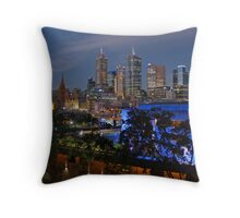 Melbourne Night Lights Throw Pillow