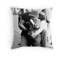 Taking in the jazz ... Throw Pillow