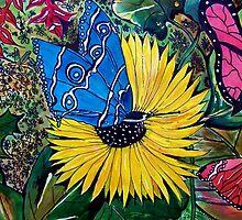 Butterflies and Flora 1 by Angela Gannicott