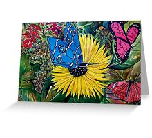 Butterflies and Flora 1 Greeting Card